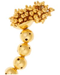 Paula Mendoza | Metallic One Round Ball Gold-plated Choker | Lyst