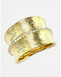 Effy - Metallic D Oro 14 Kt Gold Diamond Band - Lyst