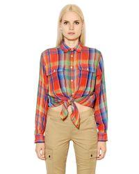 Polo Ralph Lauren - Multicolor Georgia Plaid Vintage Cotton Twill Shirt - Lyst