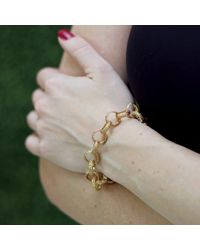 Federica Rettore - Metallic Gold Link Bracelet - Lyst