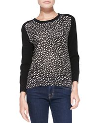 Tory Burch - Black Shia Solid-sleeve Knit Sweater - Lyst
