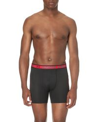 Under Armour - Textured Stretch-mesh Boxer Briefs, Men's, Size: M, Black for Men - Lyst