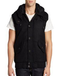 Nicholas K - Black Down Filled Convertible Jacket To Vest for Men - Lyst
