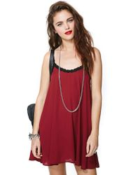 Nasty Gal | Red Fascinate Lace Slip Dress | Lyst