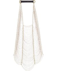 Brunello Cucinelli | Metallic Chain Net Necklace | Lyst