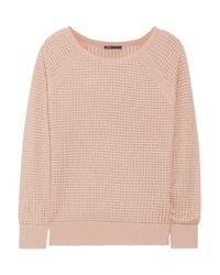 Vince | Pink Open-Knit Cashmere-Blend Sweater | Lyst