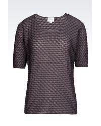 Armani   Purple Jersey T-shirt   Lyst