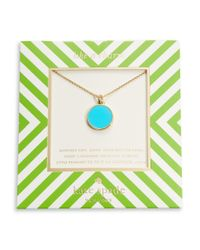 Kate Spade | Blue Turquoise Pendant Necklace | Lyst