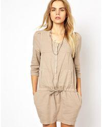IRO | Natural Safari Dress with Tie Waist | Lyst