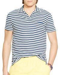 Polo Ralph Lauren | Blue Stripe Jersey Polo Shirt - Regular Fit for Men | Lyst