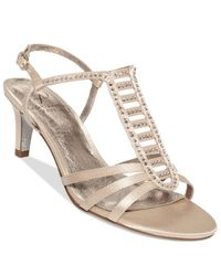 Adrianna Papell - Natural Ainsley Evening Sandals - Lyst