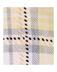Chloé - Natural Plaid Wool And Cashmere-blend Poncho - Lyst