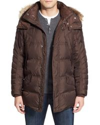 Marc New York | Blue By Andrew Marc 'stowaway' Hooded Parka With Genuine Coyote Fur Trim for Men | Lyst