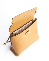 Chloé - Teak Brown Colorblock Leather Small Clare Shoulder Bag - Lyst