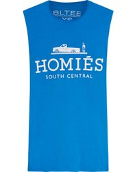 Brian Lichtenberg - Blue Homiés Cotton-jersey Tank - Lyst