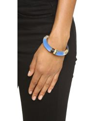 Alexis Bittar | Color Blocked Hinge Bracelet - Brocade Blue | Lyst
