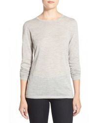 Nordstrom Collection | Gray Lightweight Cashmere Crewneck Sweater | Lyst
