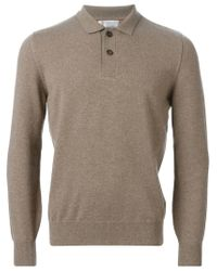 Brunello Cucinelli - Natural Polo Sweater for Men - Lyst