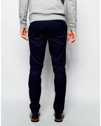 ASOS - Blue Slim Suit Trousers In Navy - Navy for Men - Lyst