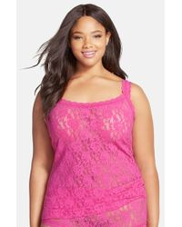 Hanky Panky - Pink 'signature Lace' Camisole - Lyst