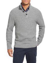 Grayers Gray 'thorton' Mock Neck Henley Sweater for men