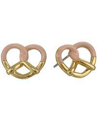 Marc By Marc Jacobs | Metallic Sweet Pretzel Studs Earring | Lyst