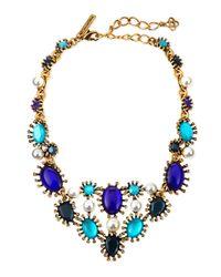 Oscar de la Renta - Blue Aqua Star Resin Bib Necklace - Lyst