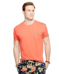 Polo Ralph Lauren | Orange Classic-Fit Pocket Tee for Men | Lyst