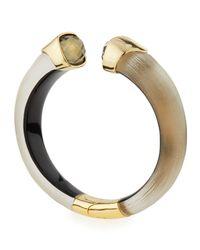 Alexis Bittar - Metallic Lucite Hinge Cuff Bracelet With Crystals - Lyst