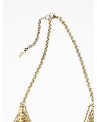 Free People - Metallic Chloe Long Beaded Fringe Necklace - Lyst