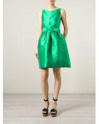 P.A.R.O.S.H. - Green Duchess Belted Dress - Lyst