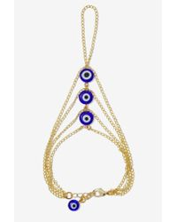Nasty Gal | Blue Evil Eye Hand Chain | Lyst