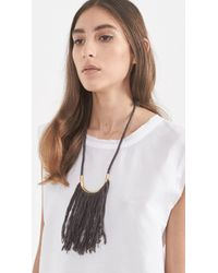 Erin Considine - Black Lunate Fringe Necklace - Lyst