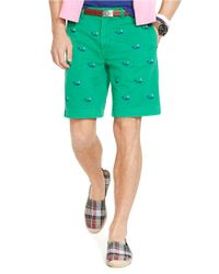 Polo Ralph Lauren | Green Classic-Fit Embroidered Chino Shorts for Men | Lyst