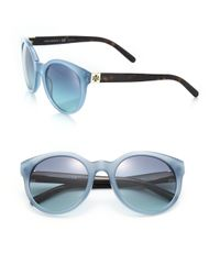 Tory Burch | Blue Vintage 54mm Round Sunglasses | Lyst