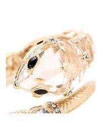 Roberto Cavalli | Metallic Crystal-embellished Cuff | Lyst