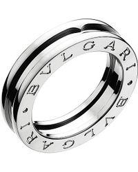 BVLGARI | Metallic B.zero1 One-band 18ct White-gold Ring - For Women | Lyst