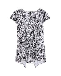 Jil Sander - Black Rest Printed Cotton Top - Lyst