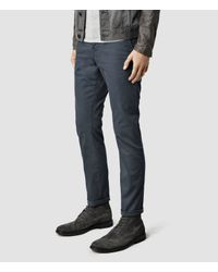 AllSaints - Blue Stove Chinos for Men - Lyst