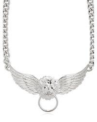Versus | Metallic Lion Head & Wings Necklace | Lyst