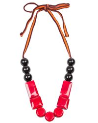 Marni | Pink Resin Bead Necklace | Lyst
