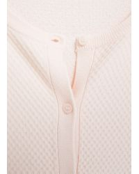 Mango | Pink Textured Knit Cardigan | Lyst