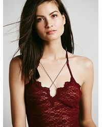 Free People - Red Strapped Layering Cami - Lyst