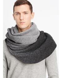 VINCE | Black Wool Blend Dégradé Scarf for Men | Lyst