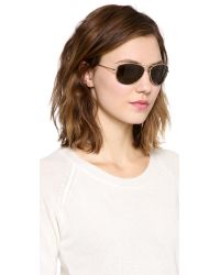 kate spade new york - Metallic Ally Polarized Sunglasses - Gold/Dark Brown - Lyst