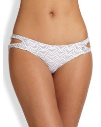 Tori Praver Swimwear | Natural Raven Cutout Bikini Bottom | Lyst