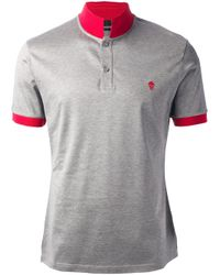 Alexander McQueen | Gray Classic Polo Shirt for Men | Lyst