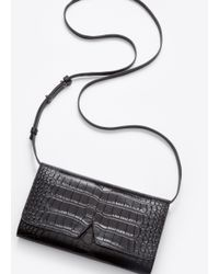VINCE | Black Signature Collection Stamped Croc Multifunction Pouch | Lyst