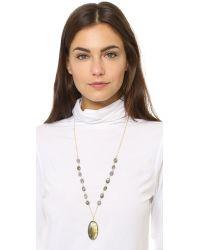 Heather Hawkins - Green Long Cabochon Necklace - Labradorite - Lyst