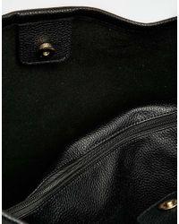 Oasis - Black Suede Hobo Bag - Lyst
